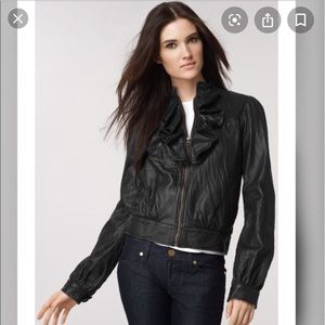 Mike & Chris Ruffle leather jacket, size Small